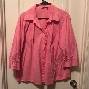 Pink maternity blouse